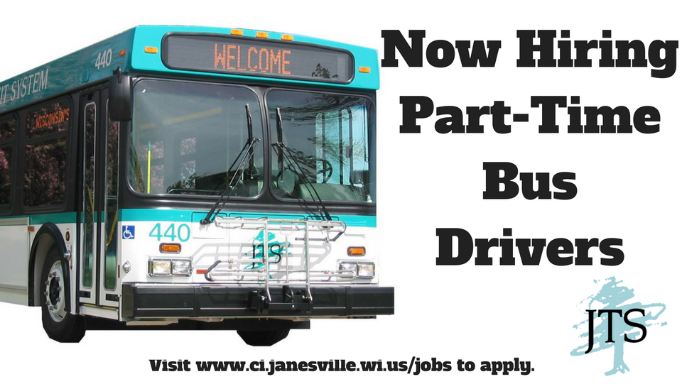 Now Hiring PT Bus Drivers