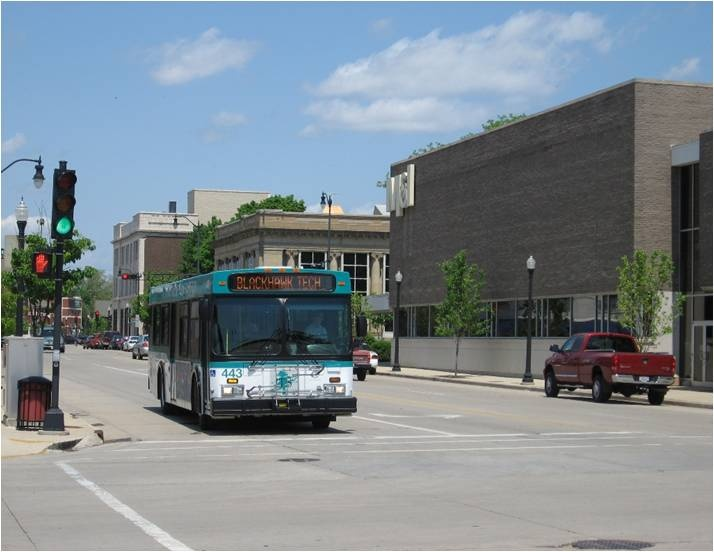 JTS Bus in Downtown Beloit