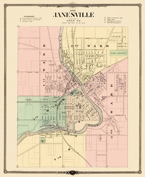 Old Janesville Map