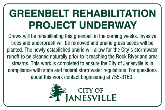 greenbelt info sign